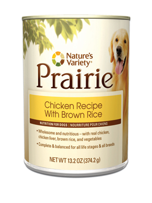Nature's Variety Prairie Chicken Dog Food Cans