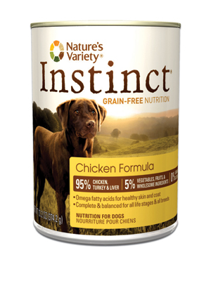 Nature's Variety Instinct Dog Chicken Cans