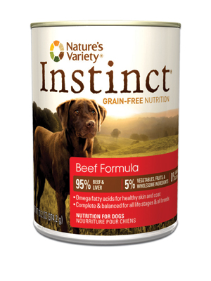 Nature's Variety Dog Instinct Beef Cans