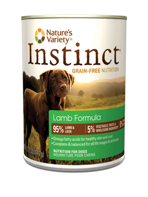 Nature's Variety Instinct Dog Lamb Cans
