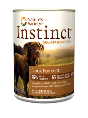 Nature's Variety Instinct Duck Dog Food Cans