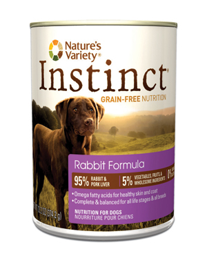 Nature's Variety Instinct Rabbit Dog Food Cans