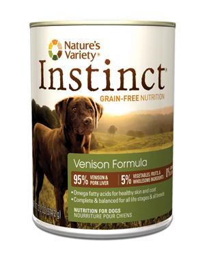 Nature's Variety instinct Venison Dog Food Cans