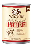 Wellness 95% Beef Dog Food Cans