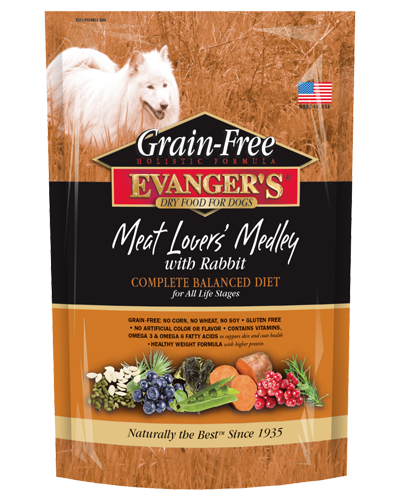 Evangers Grain Free Meat lovers medley w/rabbit