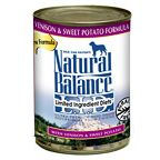 Natural Balance Venison and Sweet Potato Dog Food Cans