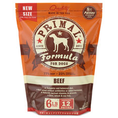 Primal Dog Beef Patties