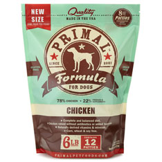 Primal Dog Chicken Patties